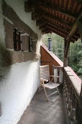 balkon bereikbaar vanuit slaapkamer 1