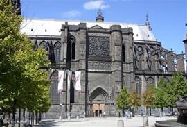The broemde cathedral of Clermont Ferrand