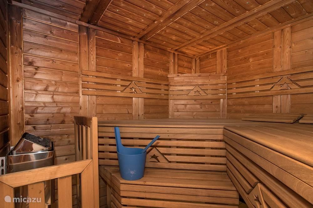 Binnenzijde sauna