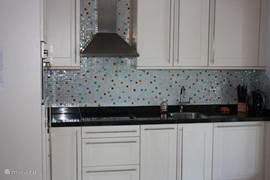 Open kitchen with dishwasher, Senseo coffee machine, combination microwave / convection oven