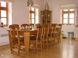 Kitchen with sturdily table for 10 people