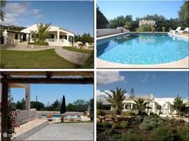 Luxe ruime villa met verwarmd zwembad gelegen in de prachtige  heuvels van St Barbara de Nexe. Deze sfeervol ingerichte villa heeft 4 double-bed slaapkamers,4 badkamers, een grote keuken, prachtige tuin (3500m2), uitzicht op zee, gratis airco,internet &TV
