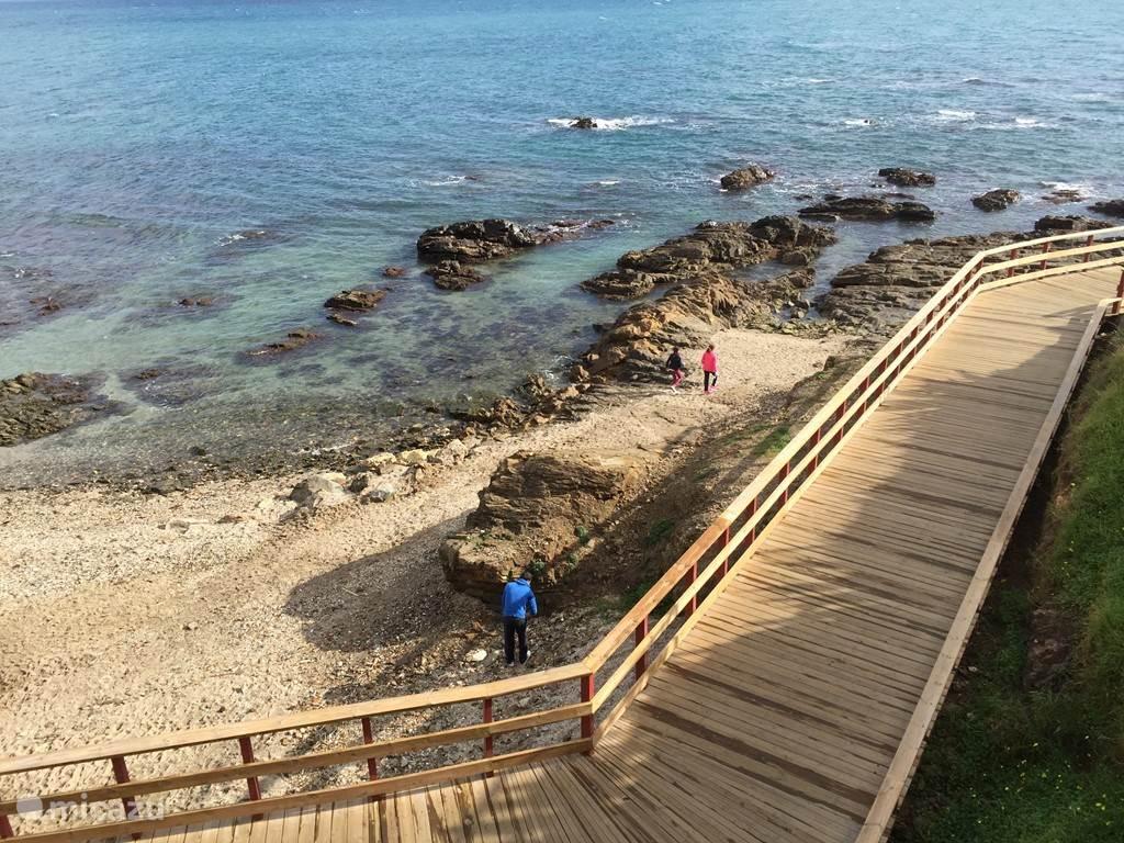 Stukje van het nieuwe wandelpad tussen Calahonda en La Cala