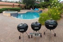 meerdere barbecue's aanwezig voor de zwoele avonden!