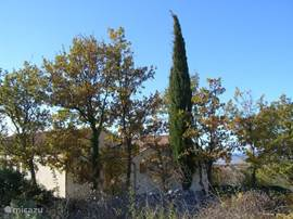 Le Chene. zo ziet U de villa als U aan komt rijden vanuit Saint Privat de Champclos. De villa ligt even buiten het dorp