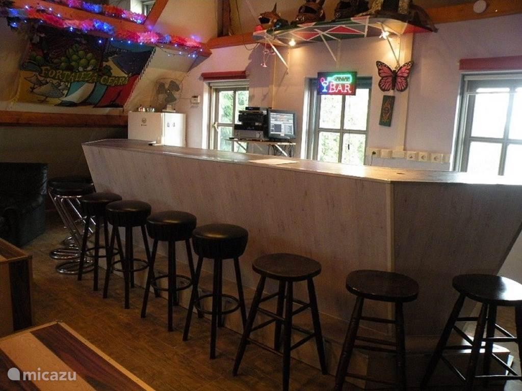 Bar/discotheekje/beamer/woonkamer bioscoop/muziek/computer/TV om gezellig aan de bar te hangen en muziek te draaien !