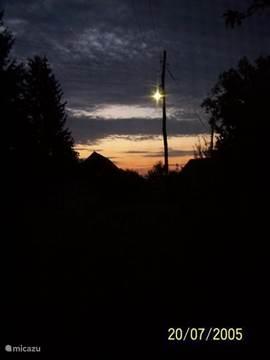 Ochtendgloren aan de oostelijke hemel.