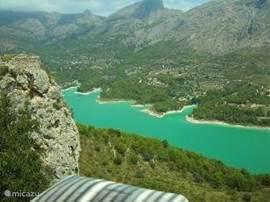 een uitstapje naar het meer van Guadalest
