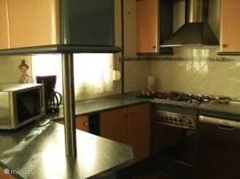 de volledig ingerichtte keuken