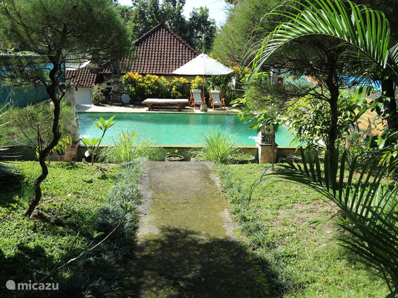 Comfortabel  vakantiehuis met groot privé zwembad rustig en landelijk gelegen op 3 km van het centrum van Ubud, het culturele hart van Bali. Ons Engels sprekend beheerdersechtpaar maakt schoon en verzorgt 3x per dag voor 8 Euro p.p.p.d Uw maaltijden.