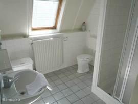 Badkamer met tweede toilet boven