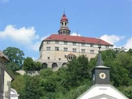 het prachtige klooster in Broumov is te bezichtigen