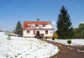 nooit eerder vertoond in Bozanov. sneeuw in mei 2011