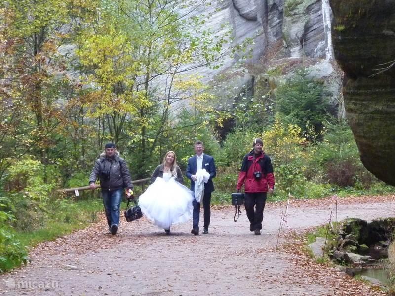 in het park kom je vaak bruidsparen tegen
