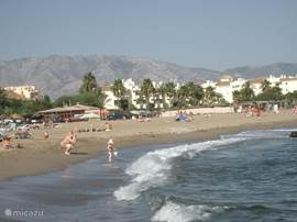 Strand voor het complex