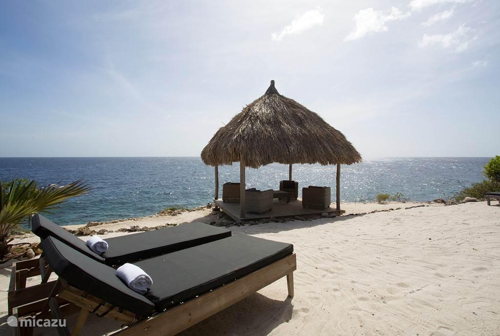 het privé-strand