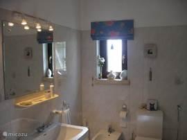 Badkamer met ligbad op de begane grond.