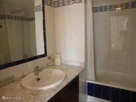 badkamer 1 met ligbad/douche, wastafel, toilet