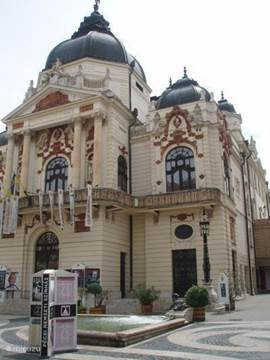 The beautiful Színház (theater) of Pecs.