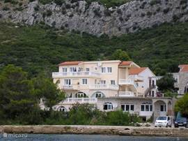The apartment is located with 8 other apartments in this building, just 25 meters from the Adriatic Sea