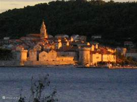 Right opposite our apartment is the historic town of Korcula worth a visit