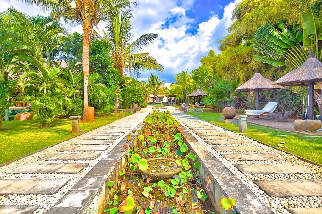 tropische tuin villabuddha