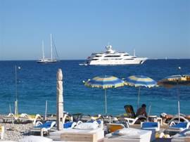 K beach, favoriete strand met uitzicht op Monaco