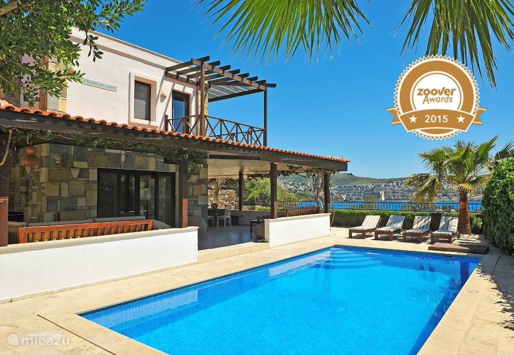 rent villa azuro prive zwembad in g ndogan aegean sea