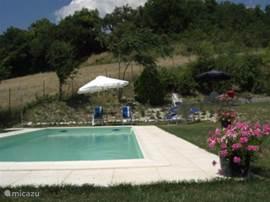 Zwembad met zitjes