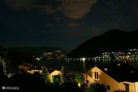 View from the apartment towards Ponte Tresa on a lovely, warm summer night.