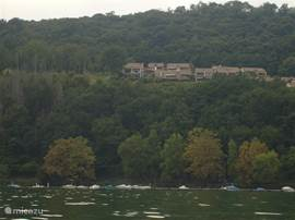 From the lake, view of house