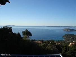 Panoramisch uitzicht vanaf ons terras