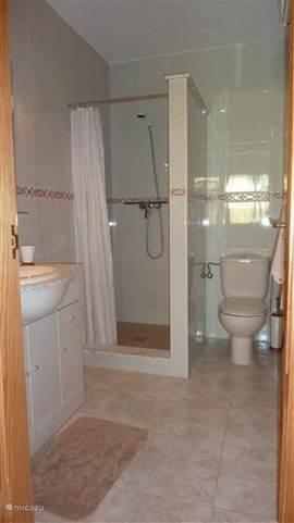 De badkamer ensuite.