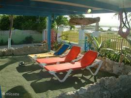 Nice seats and chairs, where in and out of the sun can enjoy the peace and nature.